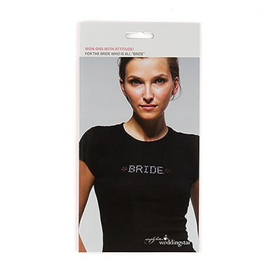 Bride Wedding Iron on Bridal Party Apparel