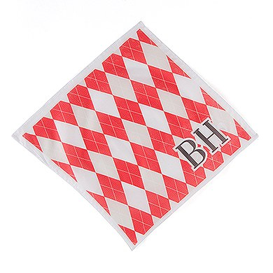 Men's Fabric Print Personalized Handkerchief