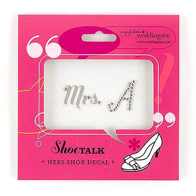 Initial Shoe Talk Decals for Shoes