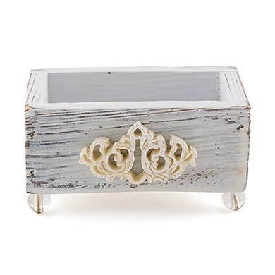 jewel footed wedding favor box