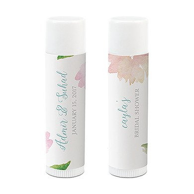 Personalized Lip Balm Party Favor - Garden Party Print