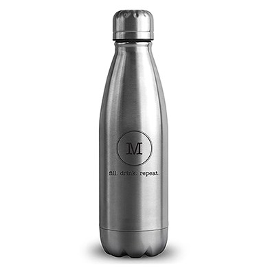 Central Park Travel Bottle - Matte Silver - Typewriter Monogram Printing