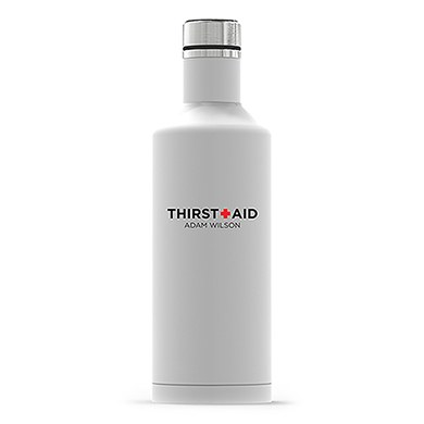 Times Square Travel Bottle - Matte White - Thirst Aid Printing
