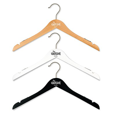 Personalized Wooden Groom and Groomsmen Hangers - Hey Handsome