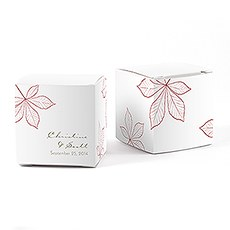 Autumn Leaf Cube Favor Box Wrap
