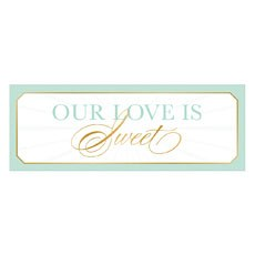 Glitz and Glam Rectangular Sign Set