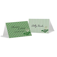 Eclectic Patterns Place Card With Fold