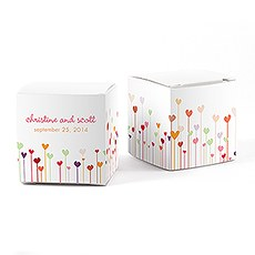 Hearts Cube Favor Box Wrap