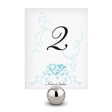 Heart Filigree Table Number