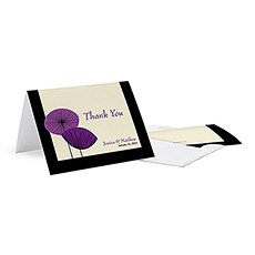 Romantic Elegance Thank You Card