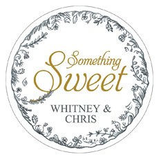 "Antique Chic ""Something Sweet"" Diecut Sticker"