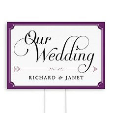Expressions Wedding Directional Sign