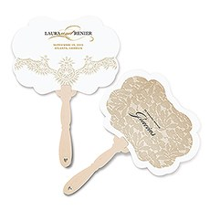 Vintage Lace Personalized Hand Fan