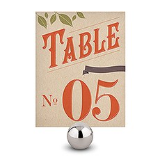 Vineyard Table Number