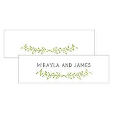 Woodland Pretty Small Rectangular Tag