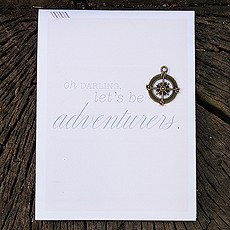 Wanderlust Invitation Map