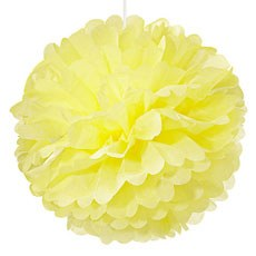 Large Paper Pom Pom - Yellow