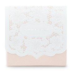 Pretty Lace Favor Box - Blush