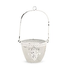 Shabby Chic Metal Flower Basket