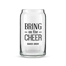 Can Shaped Glass Personalized - Bring on the Cheer Printing