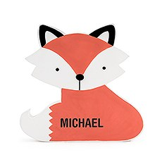 Personalized Wooden Piggy Bank for Kids- Clever Fox