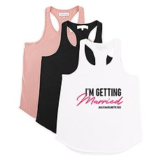 Personalized Bridal Party Wedding Tank Top - I'm Getting Married