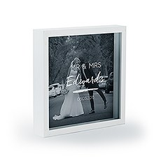Shadow Box Photo Frame - Script Font Etching
