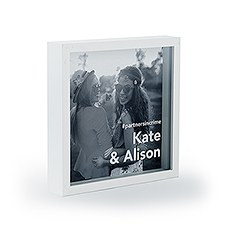 Shadow Box Photo Frame - Block Font Etching