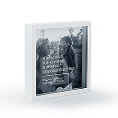 Shadow Box Photo Frame - Beach Memories Etching