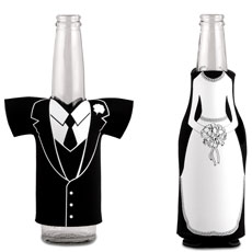 Bride or Groom Bottle Holder Centerpiece or Favor