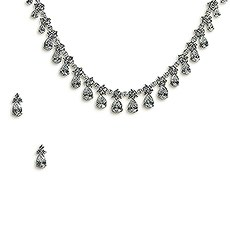 Large Pear Cubic Zirconia Drop Jewelry