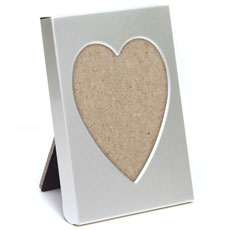 Small Silver Heart Photo Frame Favor