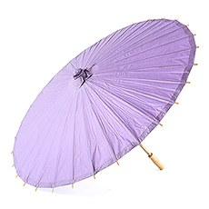 Paper Parasol with Bamboo Boning - Lavender