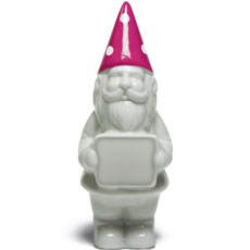 Porcelain Garden Gnome Wedding Favor