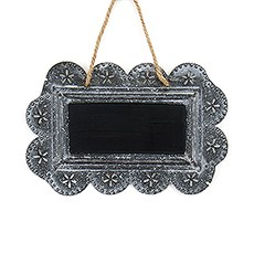 Small Scalloped Frame Tin Signs with Chalkboard