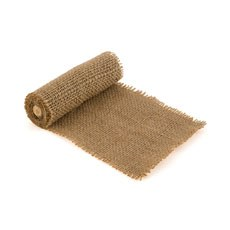 Burlap Wrap by the Roll - Narrow Brown