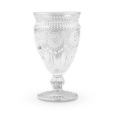 Vintage Style Pressed Glass Goblet Clear