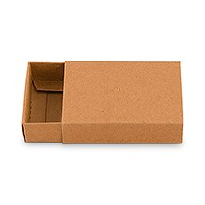 Kraft Drawer-Style Paper Favor Box