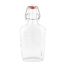 Bistro Bliss Personalized Vintage Inspired Best Man/Groomsman Clear Glass Hip Flask