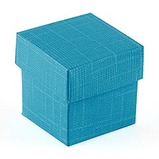 Oasis Blue Square Favor Box with Lid