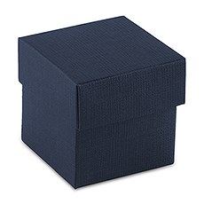 Navy Blue Favor Box with Lid