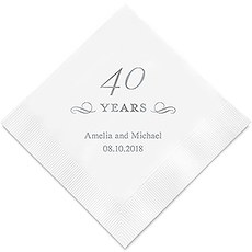 40 Years Printed Paper Napkins