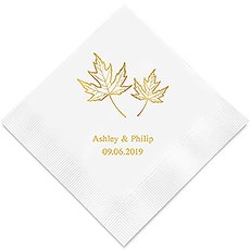 Fall Leaf Printed Paper Napkins