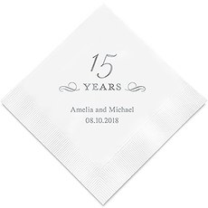 15 Years Printed Napkins