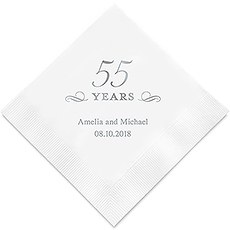 55 Years Printed Napkins
