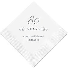 80 Years Printed Napkins