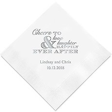 Wedding Cheer Printed Paper Napkins