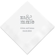 Monsieur & Madame - M & Mme Printed Paper Napkins