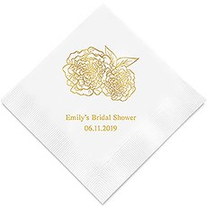 Shabby Chic Floral Printed Napkins