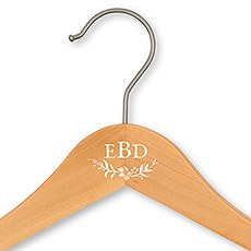 Personalized Wooden Wedding Hanger - Modern Fairy Tale Monogram Printing